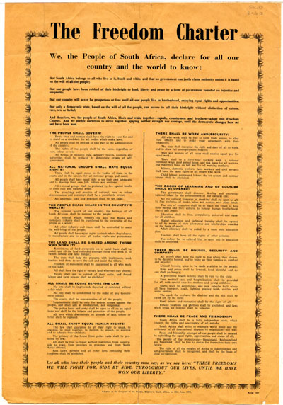 The Freedom Charter (Original document scan)   South ...
