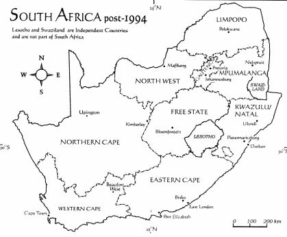 south africa map diagram