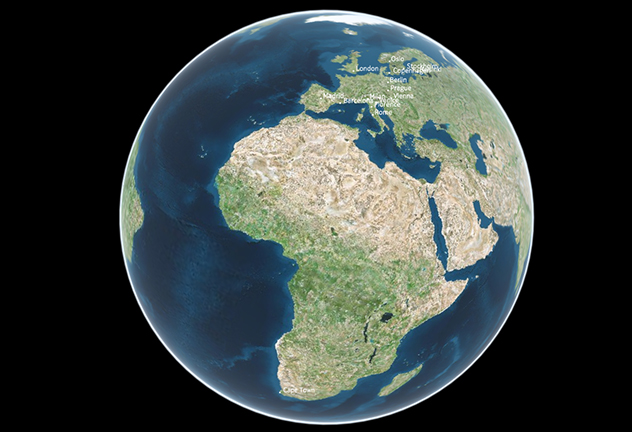 ... Actual Size World Map. African Achievements And Potential South African  History Online