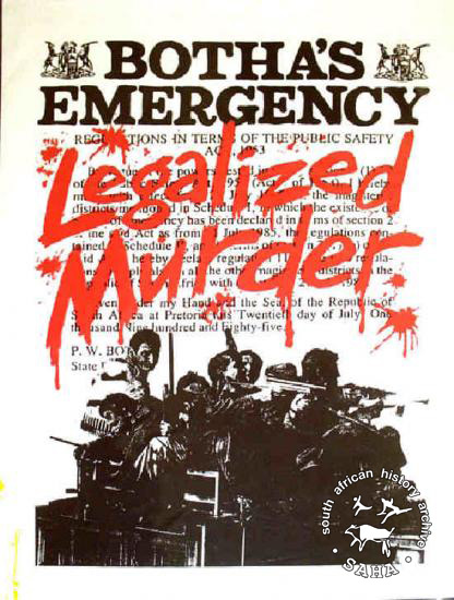 partial state of emergency july 1985 south african history online