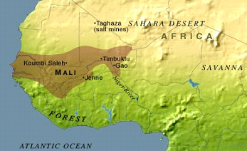 The Empire Of Mali South African History Online - Where is mali located