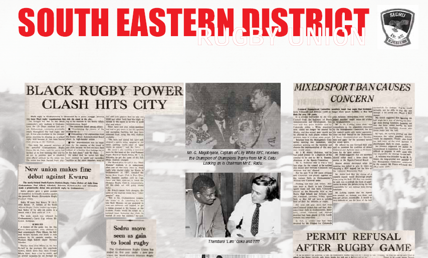 South Eastern District Rugby Union 1972, Part 2 | South