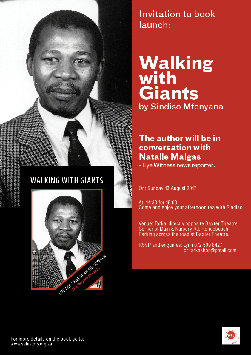 Walking with /giants Book launch Invitation