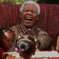 Mandela with children, 2007