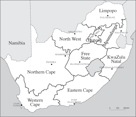 Map Of South Africa 9 Provinces.Drawing Up New Boundaries In South Africa 1994 South African