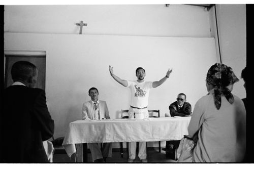 Community meeting about land issues, in Rietpoort, Namaqualand (1987)