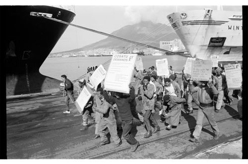 Dock workers march, Cape Town
