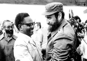 Agostinho Neto e Fidel Castro
