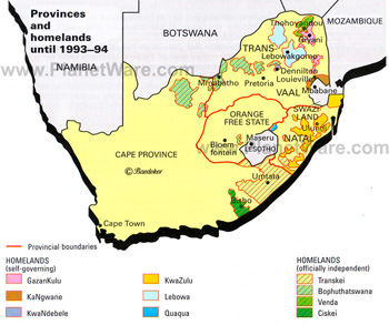 map of south africa during apartheid The History Of Separate Development In South Africa South African History Online map of south africa during apartheid