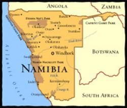 Namib Desert On Africa Map.Namibia South African History Online