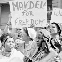 Women protested for Mandela's release