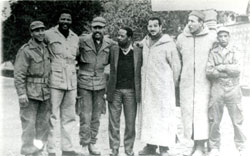 Nelson Mandela, second from left, with members of the National Liberation Front in Algeria, 1962