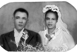 17 July 1944, Walter and Albertina's wedding reception in Johannesburg.<em> © Sisulu family collection